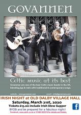 Irish Night at Old Dalby Village Hall