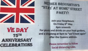 Nether Broughton V E Day Stay at Home Street Party
